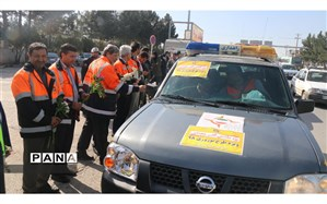 حضوراداره کل راهداری وحمل ونقل جاده ای دررزمایش مشترک ترافیکی وخدمات سفر استان خراسان شمالی