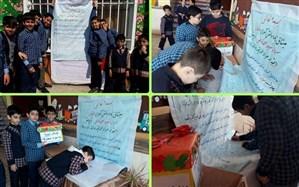 امضای پیمان نامه ،نه به ترقه دانش آموزان دبستان سردار شهید احمد کاظمی منطقه 5