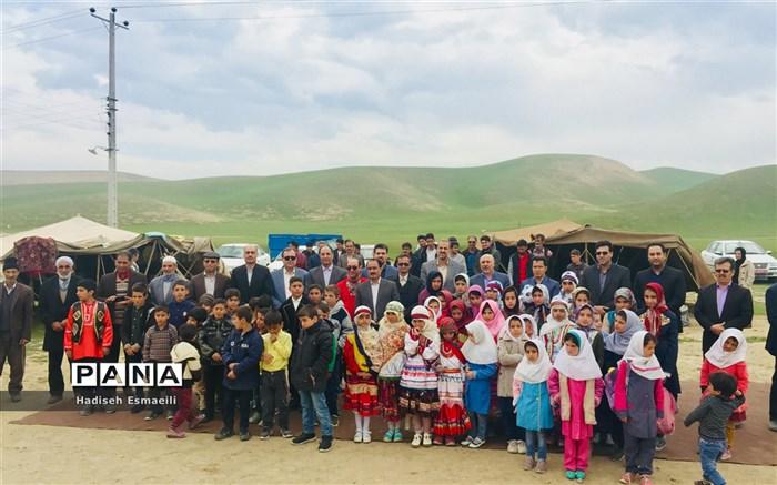افتتاحیه نمایشگاه هنرهای دستی دانش آموزان عشایر