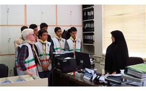 بازدید اعضای تشکل های دانش آموزی دبیرستان شاهد شهید اسدی  آذرشهر از اداره تامین اجتماعی + عکس