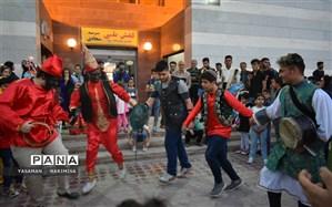 شادی پیمایی نوروزی خبر بهار و نوروز را به کوچه و خیابانهای  امیدیه آورد