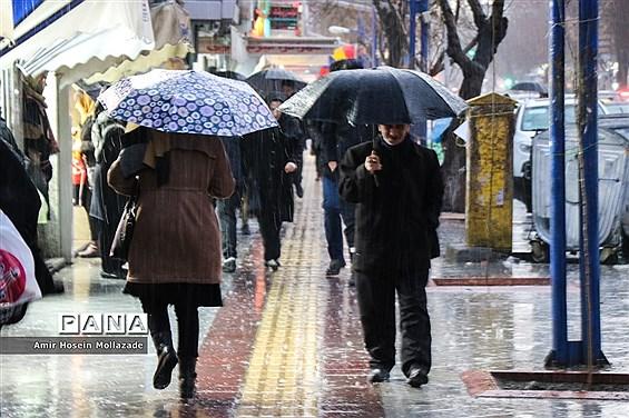 بارش تگرگ در ارومیه