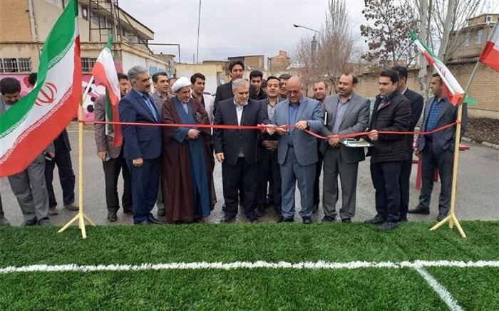افتتاح دوباب فضای ورزشی برای دانش آموزان در شهرستان سلماس