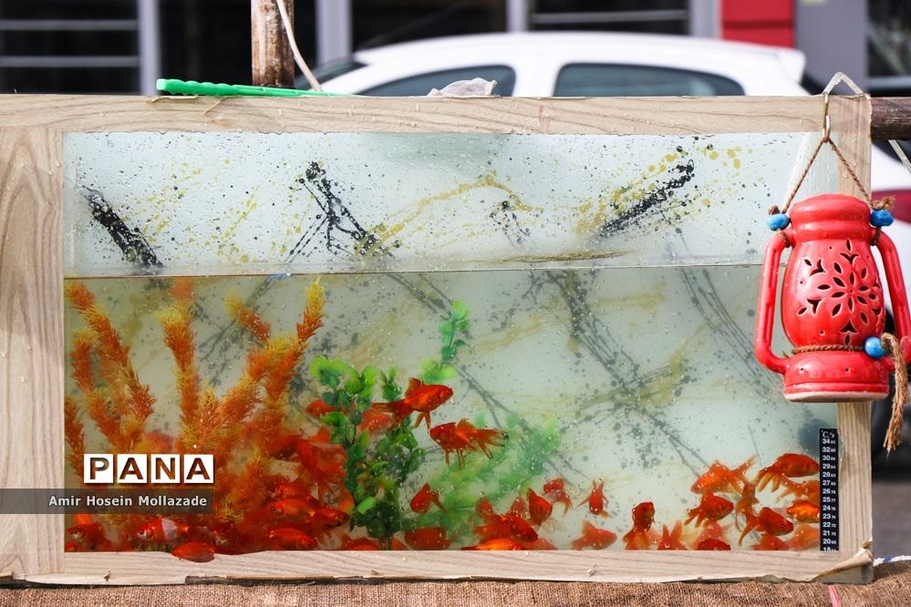 بازار فروش ماهی  و سبزه نوروزی در ارومیه