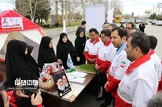افتتاح طرح امداد نوروزی هلال احمر آذربایجان غربی