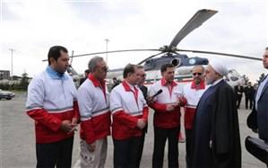 بازدید سرزده روحانی از ایستگاه سلامت اورژانس در بزرگراه تهران-کرج