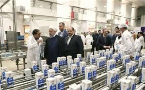 رئیسجمهوری از مجموعه تولیدی شرکت صنایع شیر ایران بازدید کرد