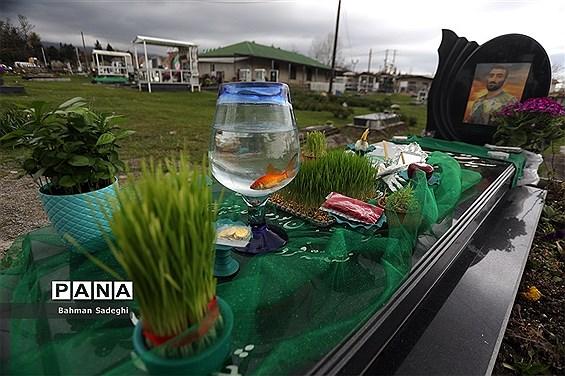ردپای نوروز در آرامستان