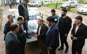 توزیع 2500 وعده غذای گرم و سبد کالا در مناطق سیلزده مازندران
