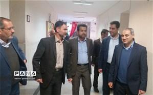بازدید معاون تربیت بدنی و سلامت آموزش و پرورش استان اصفهان از ستاد اسکان نایین