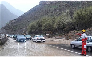 بارش باران در برخی محورهای اردبیل و گیلان
