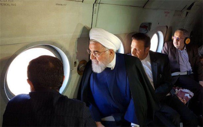 بازدید هوایی روحانی از خوزستان