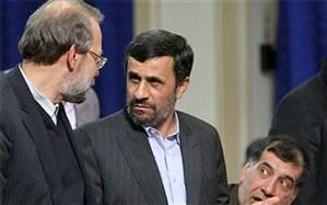 واکنش دفتر لاریجانی به ادعای احمدینژاد: دروغ است