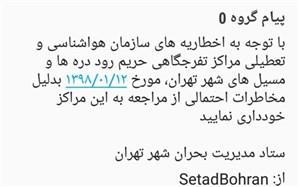 ارسال بیش از 500 هزار پیامک «هشدار مکان محور» به شهروندان تهرانی
