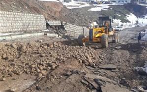 راه دسترسی روستای حسین آباد کالپوش بازسازی شد