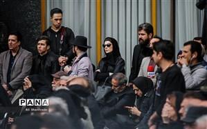 تصویر/لیلا حاتمی در مراسم تشییع پیکر جمشید مشایخی