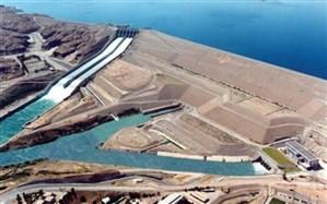 تصویر هوایی برای اولین بار از ارتفاع ۷۵۰ متری از سد کرخه