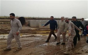 حضور سردار قاسم سلیمانی در مناطق سیل زده خوزستان