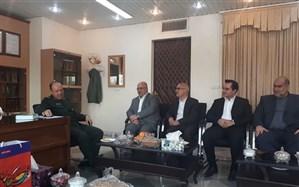 مدیر کل و معاونان اداره کل آموزش و پرورش آذربایجان غربی با فرمانده سپاه شهدا دیدار کردند