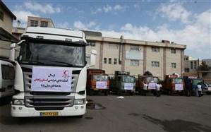 ارسال1600 دستگاه چادر و500 تخته پتو به مناطق سیل زده خوزستان