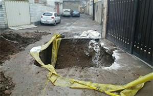 10 مورد نشست زمین در محلات مختلف منطقه یک شهرداری قزوین مرمت شد