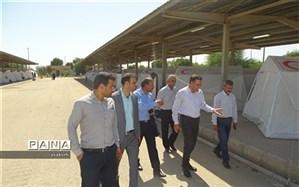 بازدیدمعاون پژوهش و برنامه ریزی و آموزش نیروی انسانی آموزش و پرورش خوزستان از مناطق سیل زده شهرستان شادگان