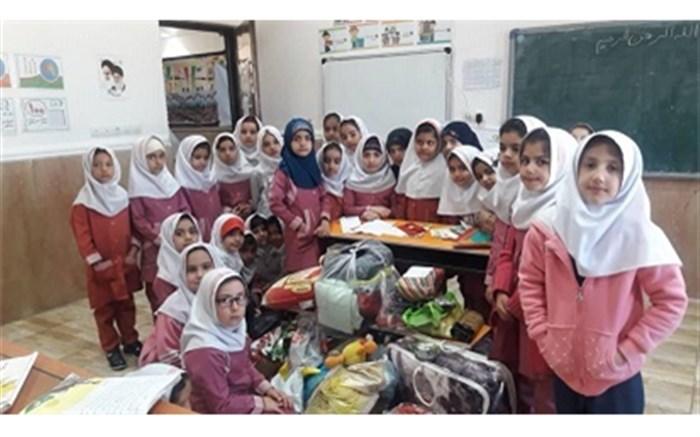 کمک دبستان قرآنی امام حسن مجتبی(ع) یاسوج به دانش آموزان مناطق سیل زده