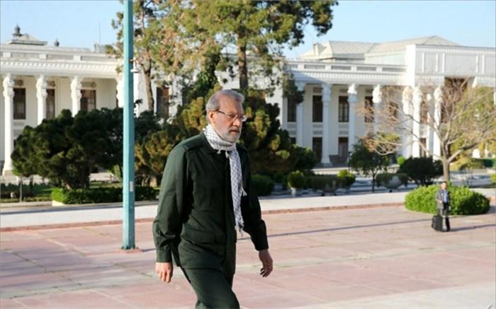 لاریجانی با لباس سپاه