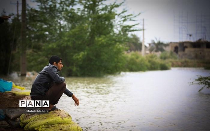 نگرانی مردم از سیل احتمالی در شیبان خوزستان