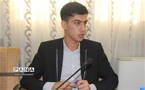 هم دردی نماینده دانش آموزان استان همدان در مجلس دانش آموزی کشور با هم وطنان سیل زده