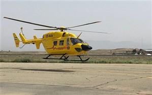 بالگرد آمبولانس سمنان به مناطق سیل زده خوزستان اعزام شد