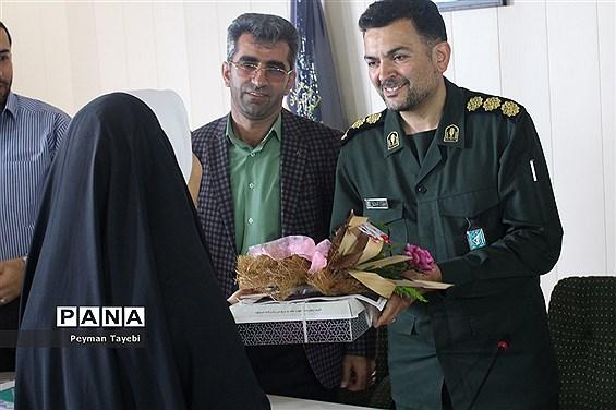 دیدار مسئولان آموزش و پرورش استان سمنان با پاسداران سپاه قائم آل محمد (عج) سمنان