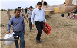 حضورسرپرست فرمانداری شهرستان حمیدیه درجمع مردم سیل زده خسرج