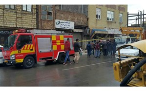 اعزام ناوگان و تجهیزات آتشنشانی برای رفع آبگرفتگی معابر قم