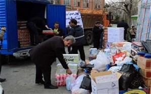 ارسال کمک های مردم  شهرستان ری  جهت سیل زدگان لرستان