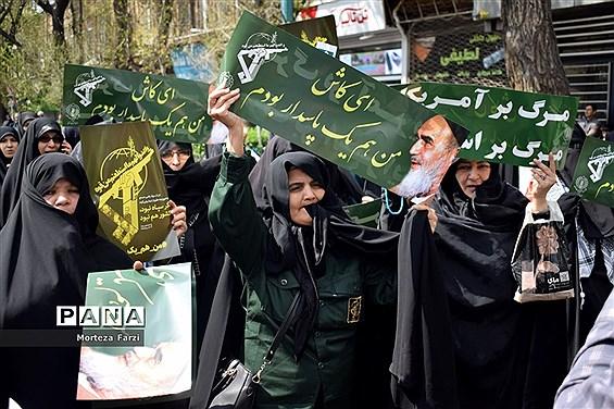 راهپیمایی مردم تبریز در حمایت از سپاه پاسداران انقلاب اسلامی