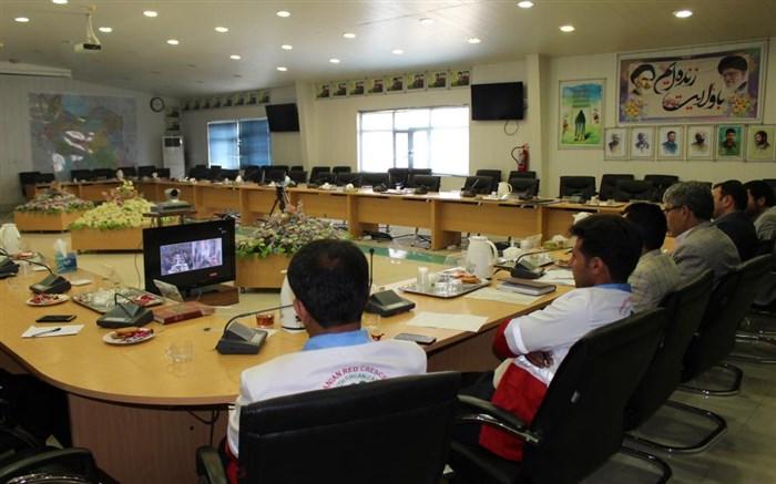 جلسه ویدئو کنفرانس «سیل مهربانی همکلاسی ها» با هدف ارتباط  استانهای معین و مناطق سیلزده  برگزار شد