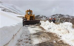 ادامه برفروبی در جاده های کوهستانی اردبیل