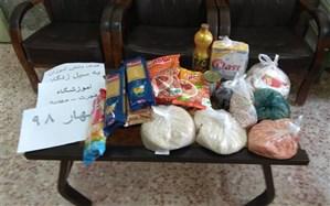 ارسال کمک های دانش آموزان آموزشگاه هجرت-مهدیه شهرک شهید محمدی شهرستان گتوند