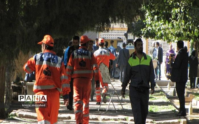 تجلیل از نارنجی پوشان و سفیران پاکیزگی در شیراز