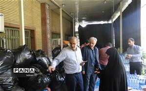 بازدید مدیر منطقه 14 ، از محل جمع آوری کمک های مردمی مدارس منطقه14