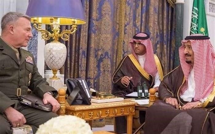 دیدار «فرمانده تروریستهای آمریکایی» با شاه عربستان