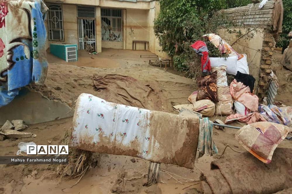 منازل تخریبشده در سیل پلدختر استان لرستان