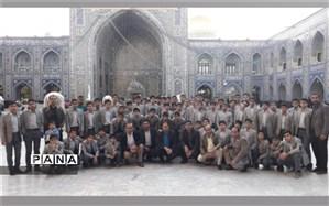 اردوی زیارتی سیاحتی دانش آموزان دبیرستان شهید ذوالفقاری میبد در مشهد برگزار شد