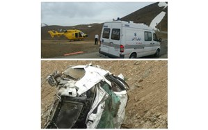 سقوط خودروی سمند به داخل دره در آتشگاه کرج حادثه آفرید