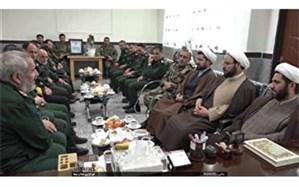 دیدار فرمانده سپاه اردبیل با فرمانده تیپ ۴۰ متحرک هجومی ارتش