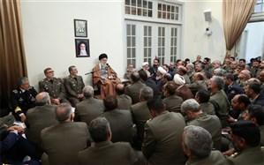 جمعی از فرماندهان ارتش و نیروی زمینی با رهبر انقلاب دیدار کردند
