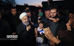 بازدید روحانی از مناطق سیلزده استان لرستان