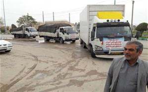 اولین محموله کمک دانش آموزان و فرهنگیان استان بوشهر به سیل زدگان به اهواز رسید