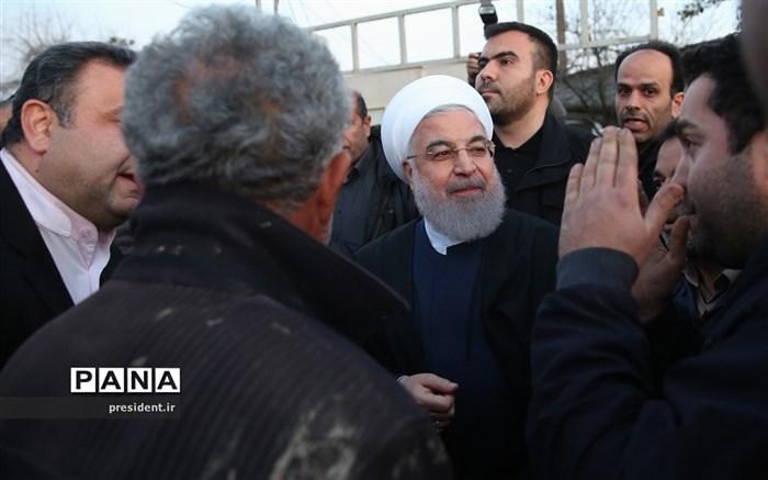 حضور رئیس جمهوری در جمع مردم روستای سیل زده کردخیل مازندران